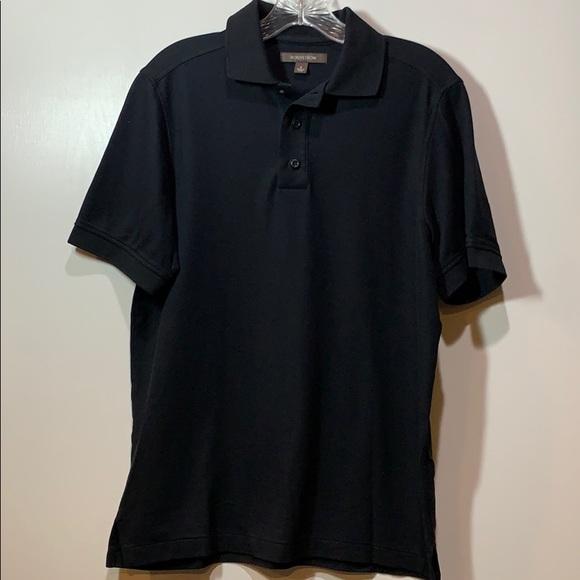 Nordstrom Men's Black Polo Short Sleeve Shirt